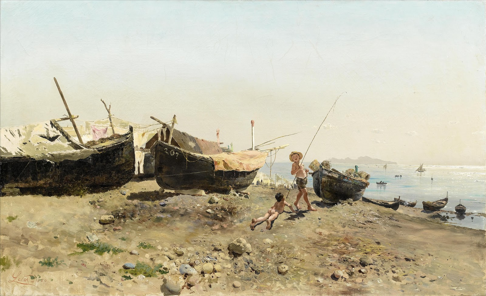 Antonino Leto Sulla riva Mergellina
