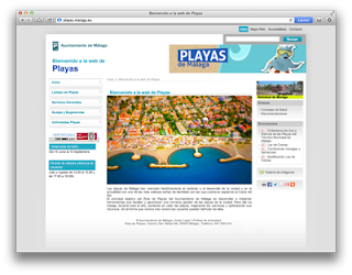Web de Playas de Málaga