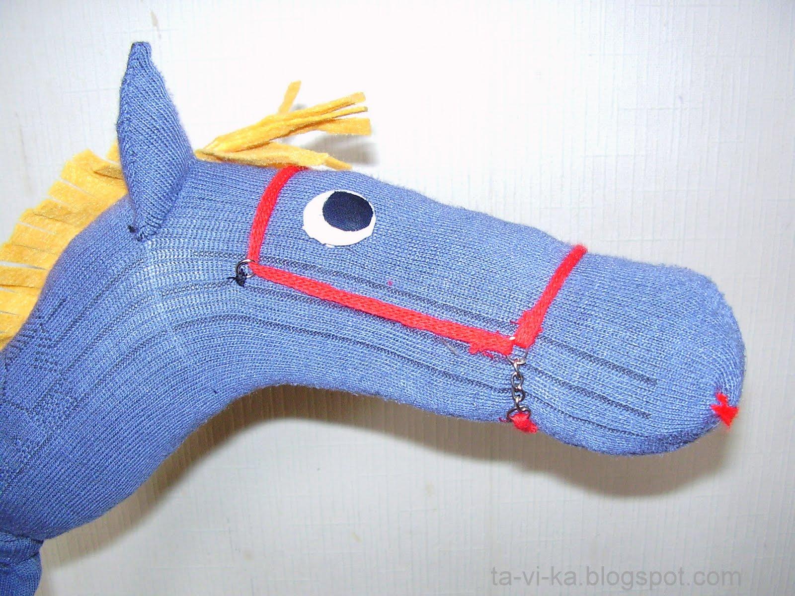 Лошадь своими руками из носка своими руками 7