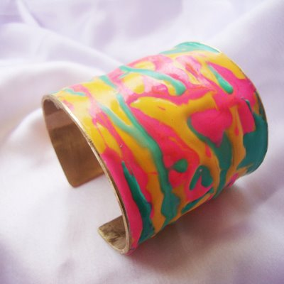 Aditi bhatt accessories, colorful cuff, multi-color bracelet, enamel jewelry