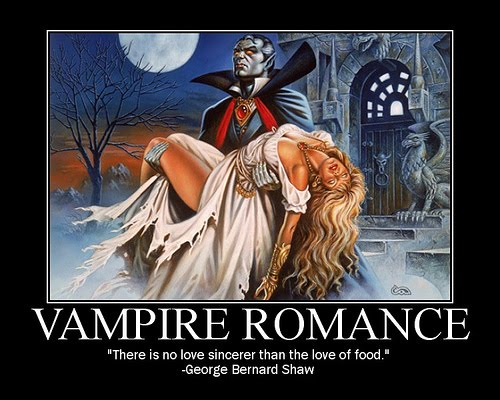Vampire romance motivational humor