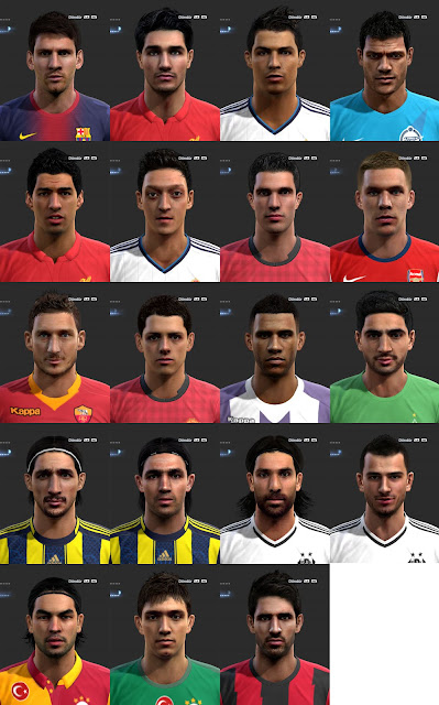 Download Facepack by Ilhan PES 2013