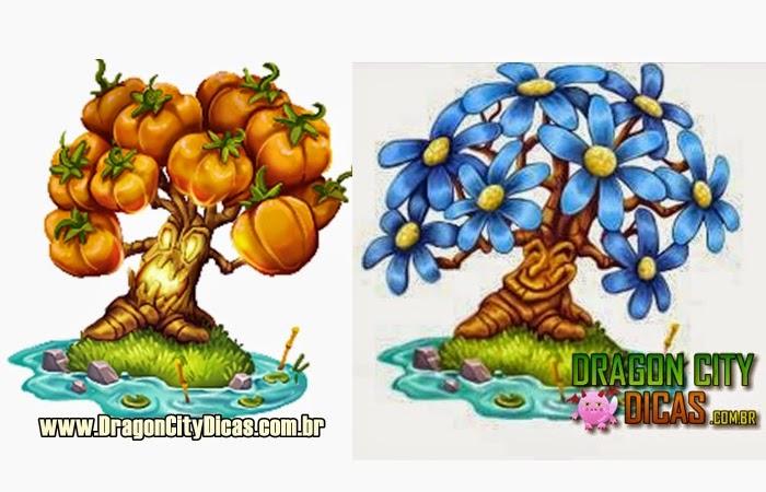 Árvores de Tomate e Abóbora