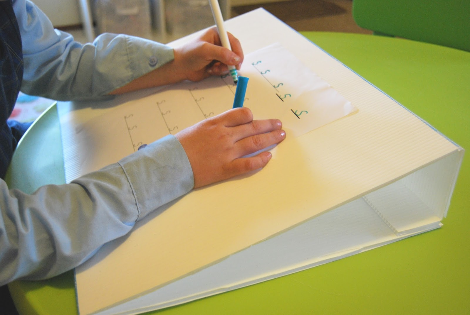 how to make a slant board for writing