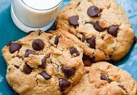 Cookies com Chips de Chocolate e Amêndoas