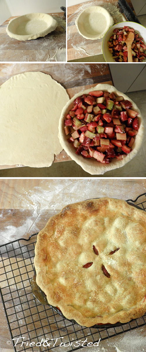 Strawberry rhubarb pie filling | Tried & Twisted
