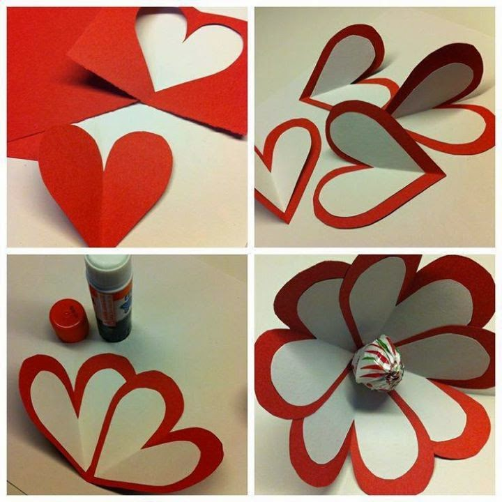 Make A Red Paper Flower Step By Step Tutorial