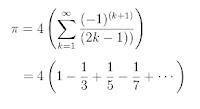 Una caracterización del número  Pi usando series
