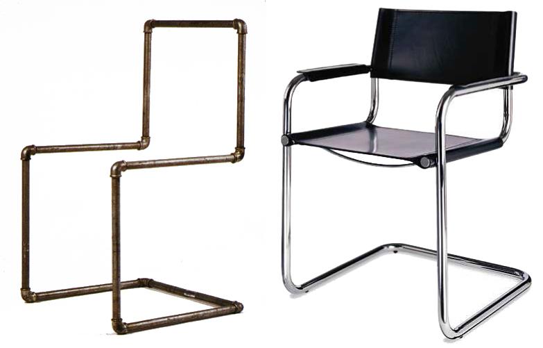 Het modernisme bauhaus for Bauhaus stoel leer
