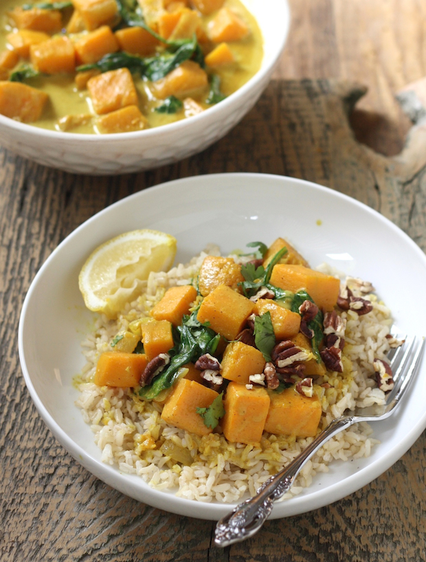Butternut squash coconut curry by SeasonWithSpice.com