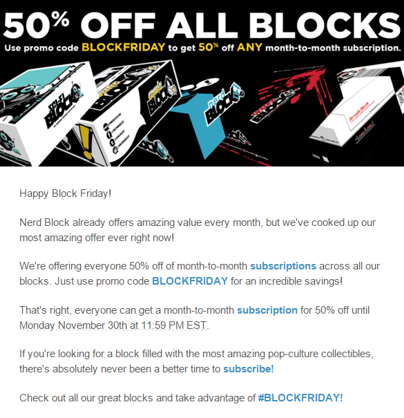 nerd block black friday deal