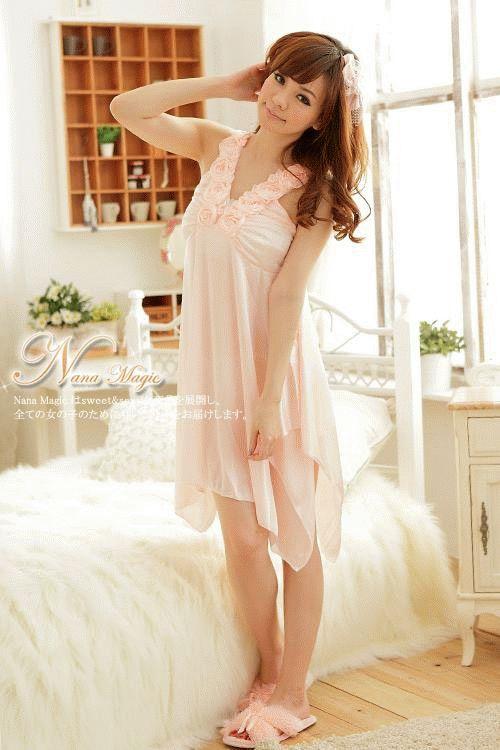 gambar Baju Tidur Cantik SL845 Peach