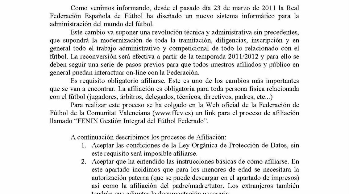Club burriana futbol base atencion afiliaci n a la for Federacion valenciana de futbol