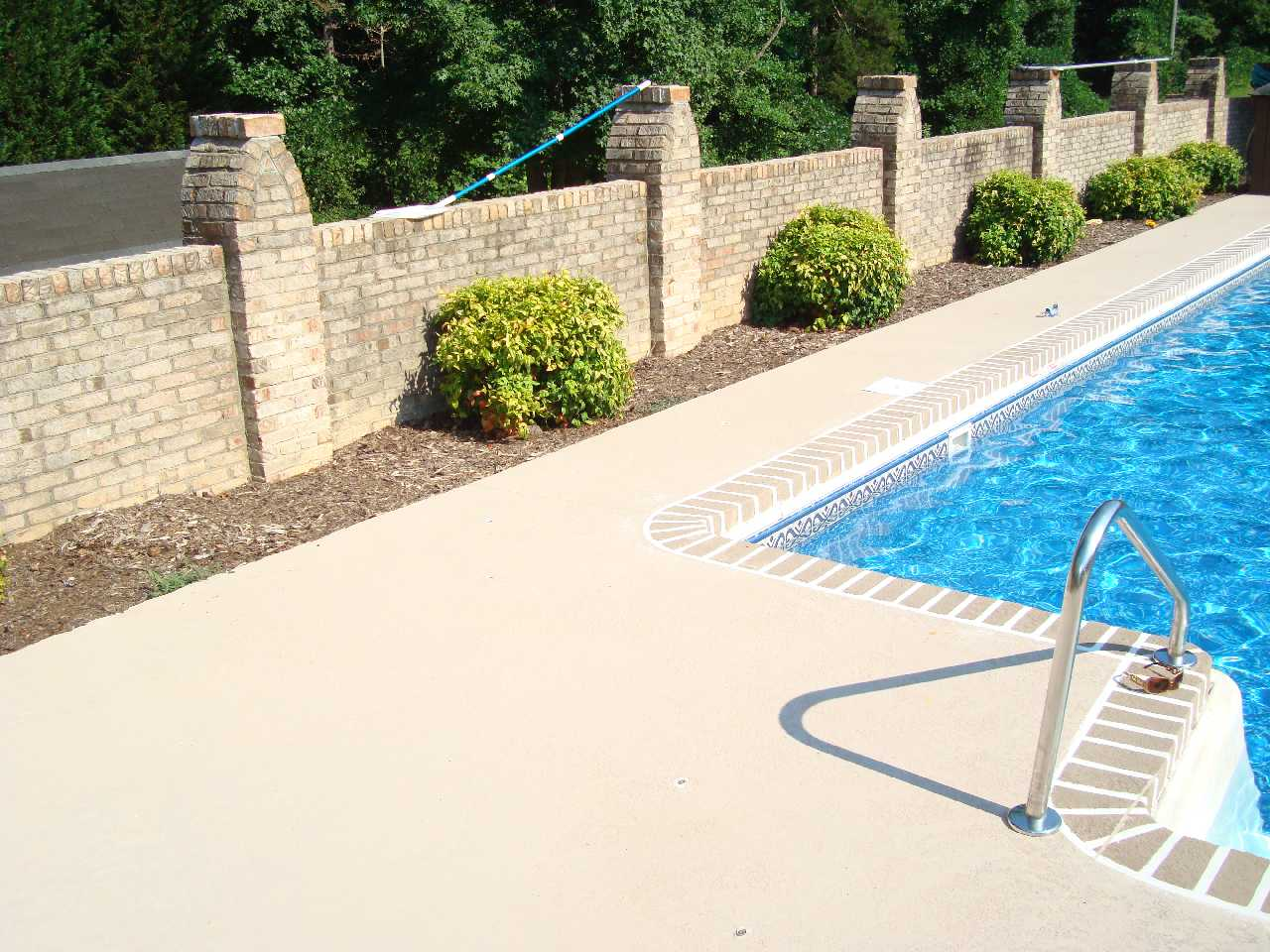 Atlantic coast concrete 2 500 square foot pool deck for Average square footage of a pool