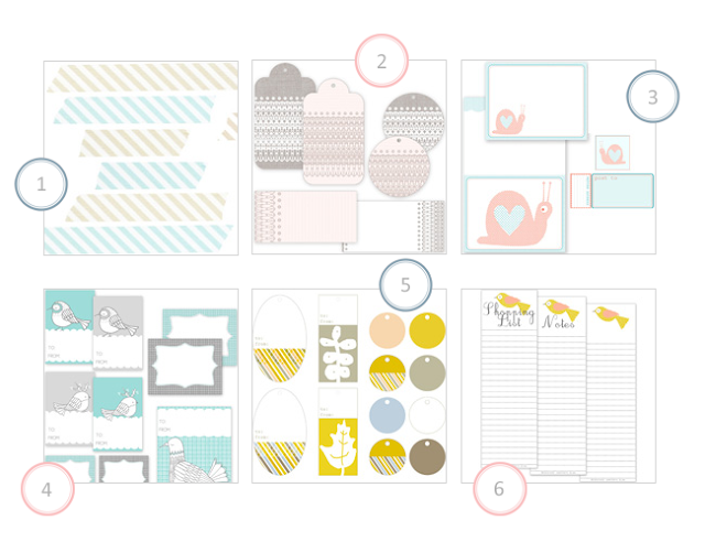 My top 6 of free printables by Creature Comforts