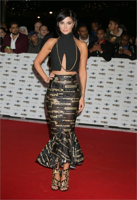 Tulisa Contostavlos in MOBO Awards red carpet