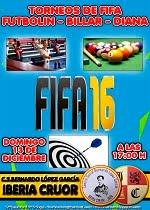 Torneo de Fifa - Futbolin - Billar y Diana