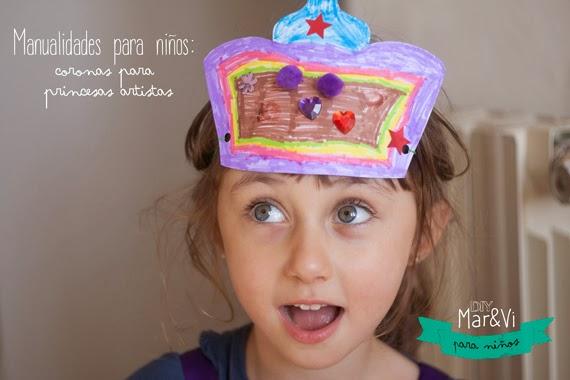 Manualidades para niños, corona para imprimir