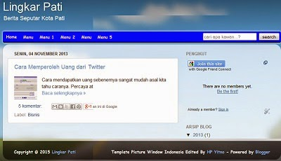 Download dan unduh Template Picture Window Indonesia