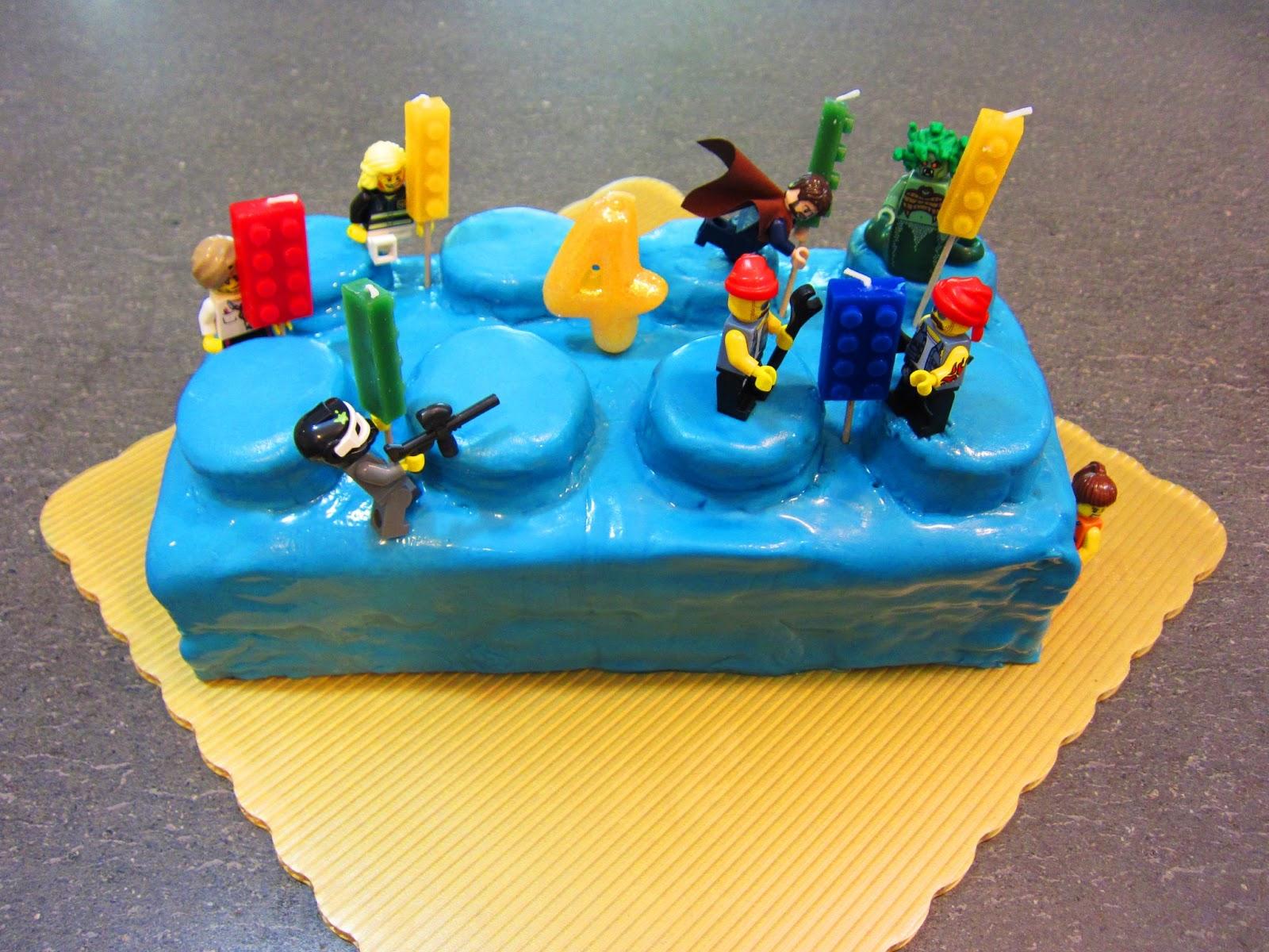 How To Make A Lego Brick Cake With Fondant