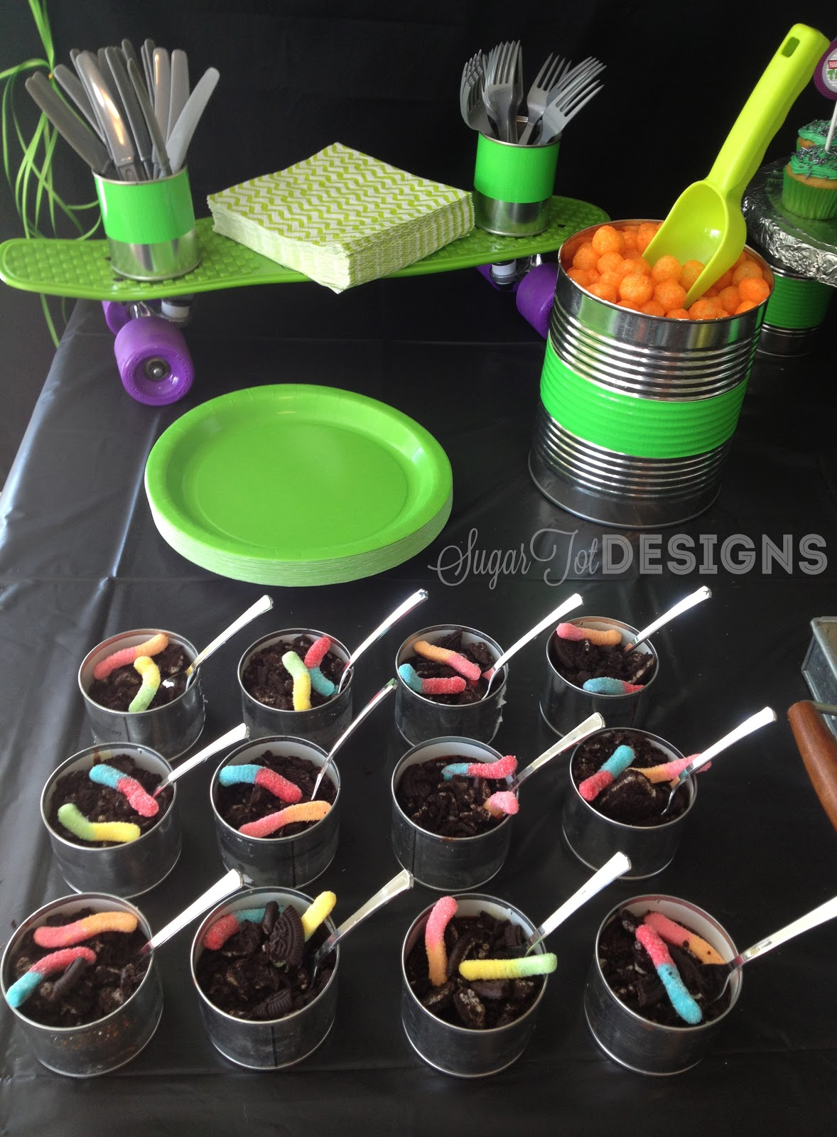 Sugartotdesigns teenage mutant ninja turtle party for Tmnt decorations