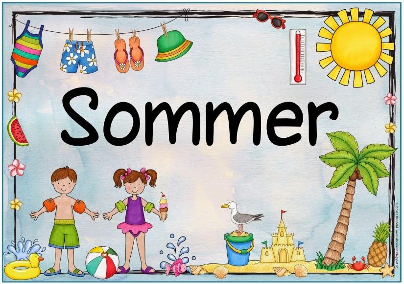 Ideenreise jahreszeitenplakat sommer - Fensterdeko sommer ...