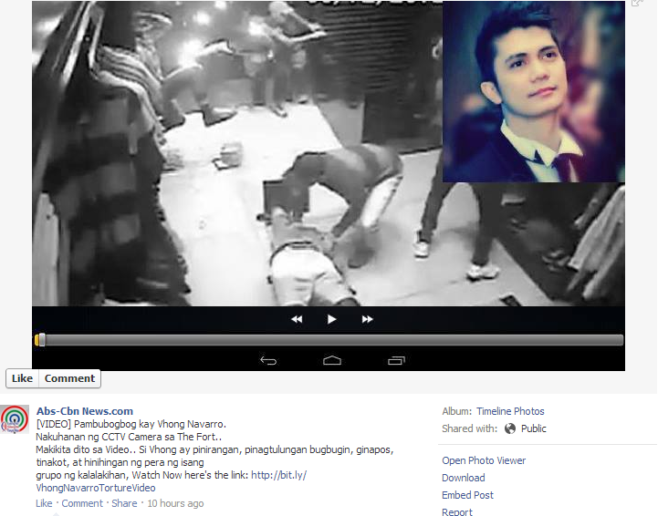 Fake CCTV Footage of Vhong Navarro