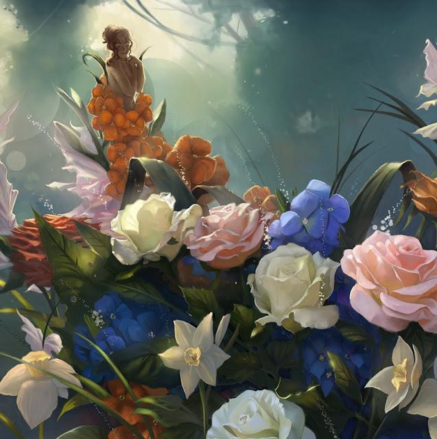 wallflower,digital art girl,Kelley Harris