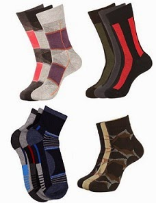 Socks Value Packs (Combos): Flat 30% Off + Extra 32% Off on Men's Socks  (No Minimum Purchase) Free Home Delivery