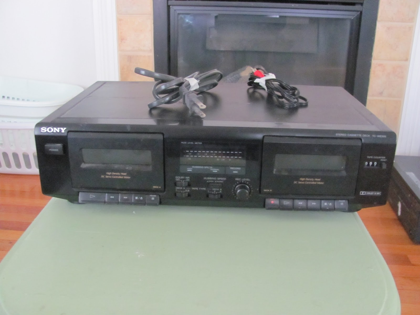 Sony two-deck cassette player on display before being sold on Craigslist