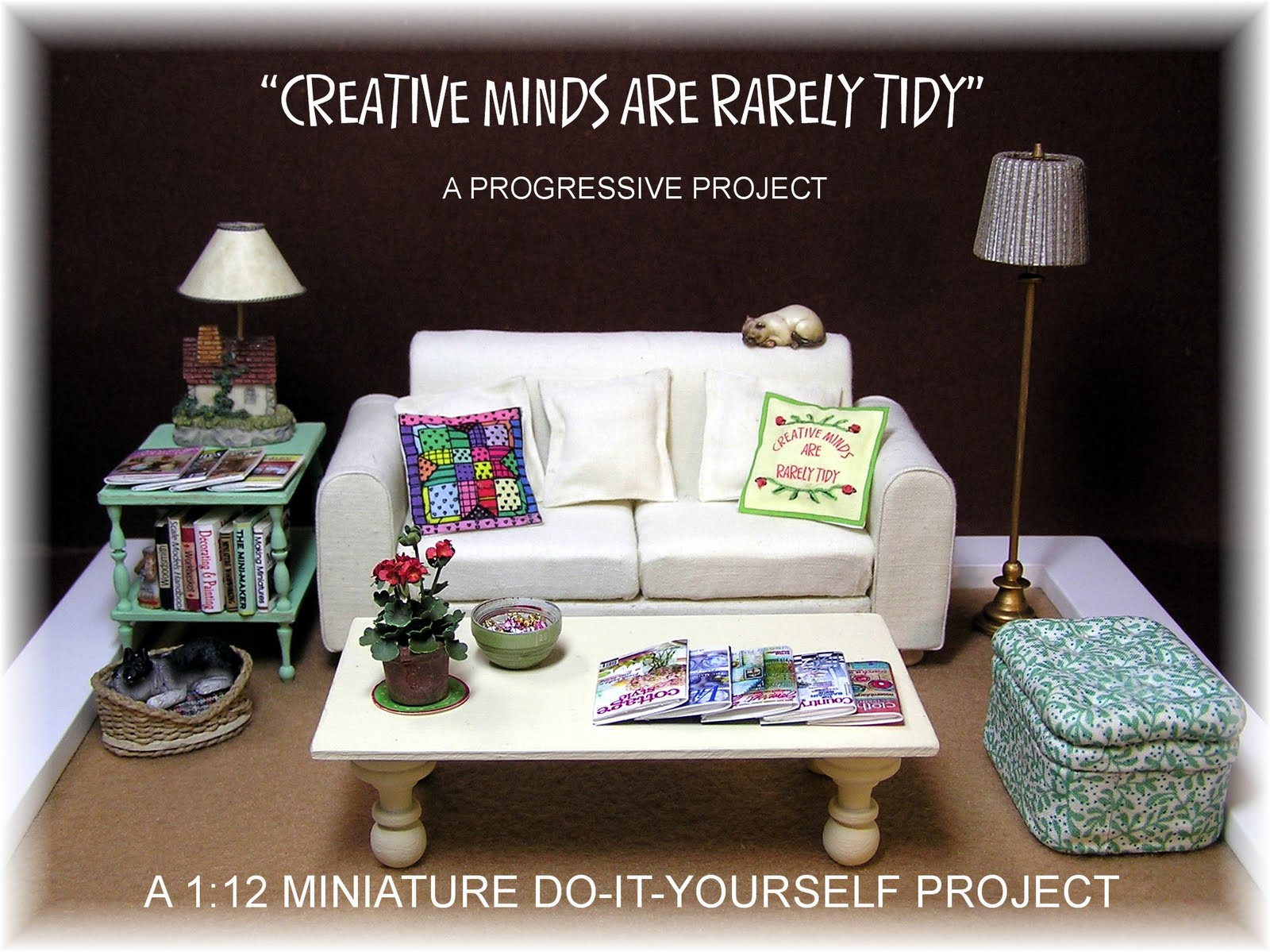 dyi dollhouse miniatures creative minds are rarely tidy. Black Bedroom Furniture Sets. Home Design Ideas