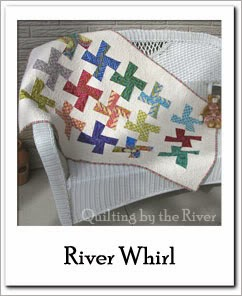 River Whirl Quilt Free Tutorial at Freemotion by the River