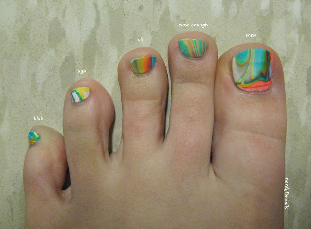 nerdy nails toesday water