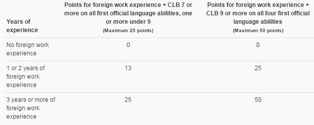 Experiência profissional no exterior + proficiência em idioma nível 7