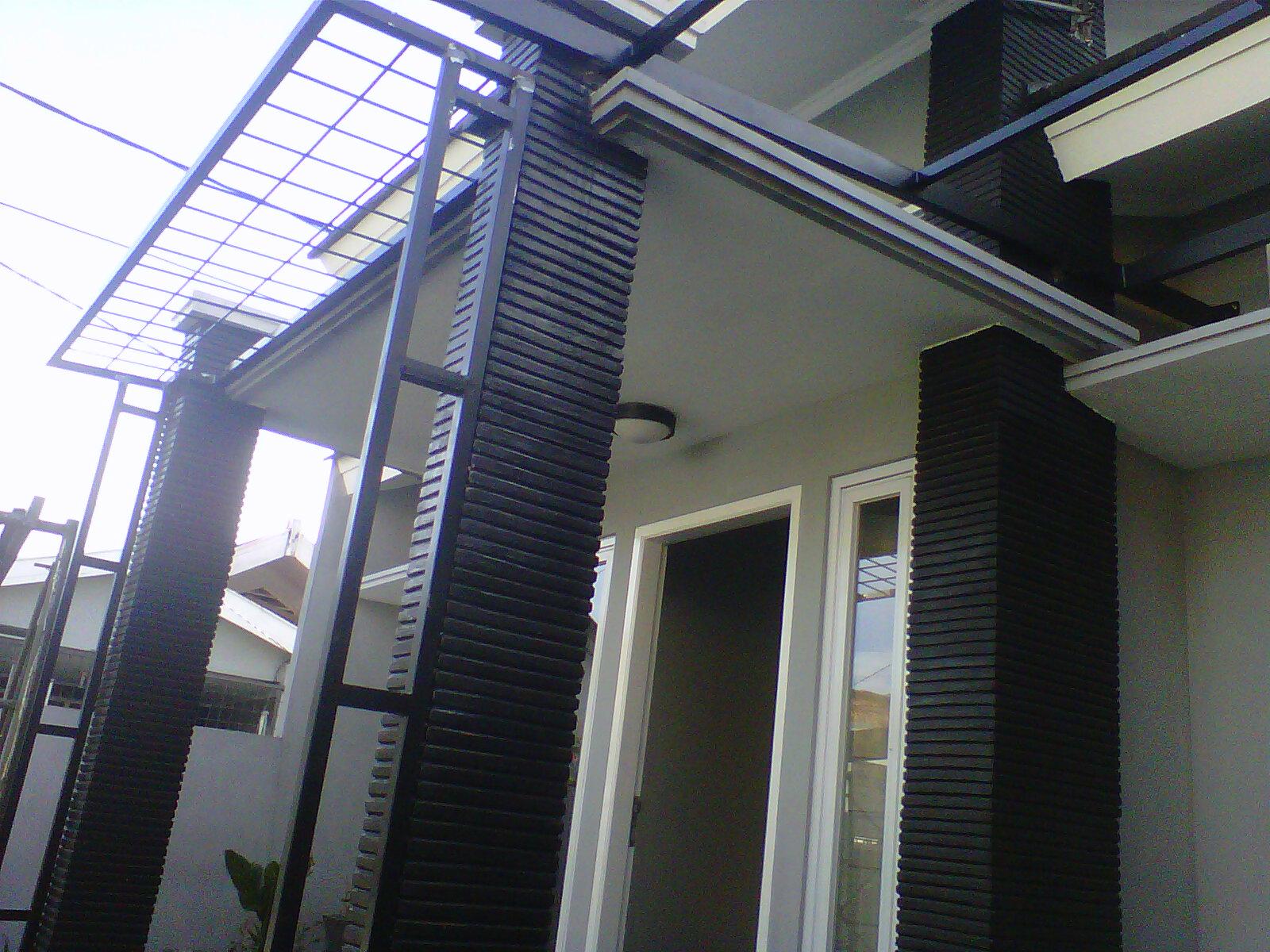 canopy carport kanopi variasi besi pada bangunan rumah