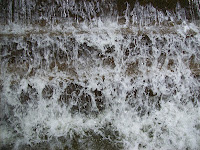 Shot of flowing water from a fountain