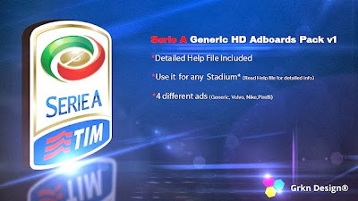 PES 2014 Serie A HD Adboards Pack v1 by Grkn Design®