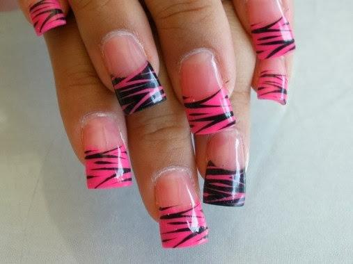 zebra nail tips art design