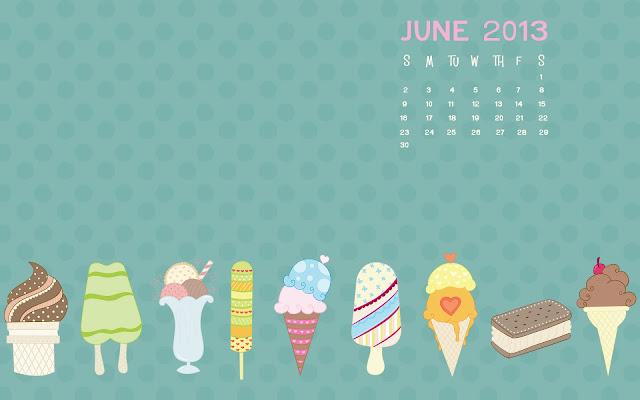 June 2013 Desktop Calendar Background - Happiness is Homemade