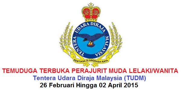 Jawatan Kerja Kosong Tentera Udara DiRaja Malaysia (TUDM) logo www.ohjob.info februari april 2015