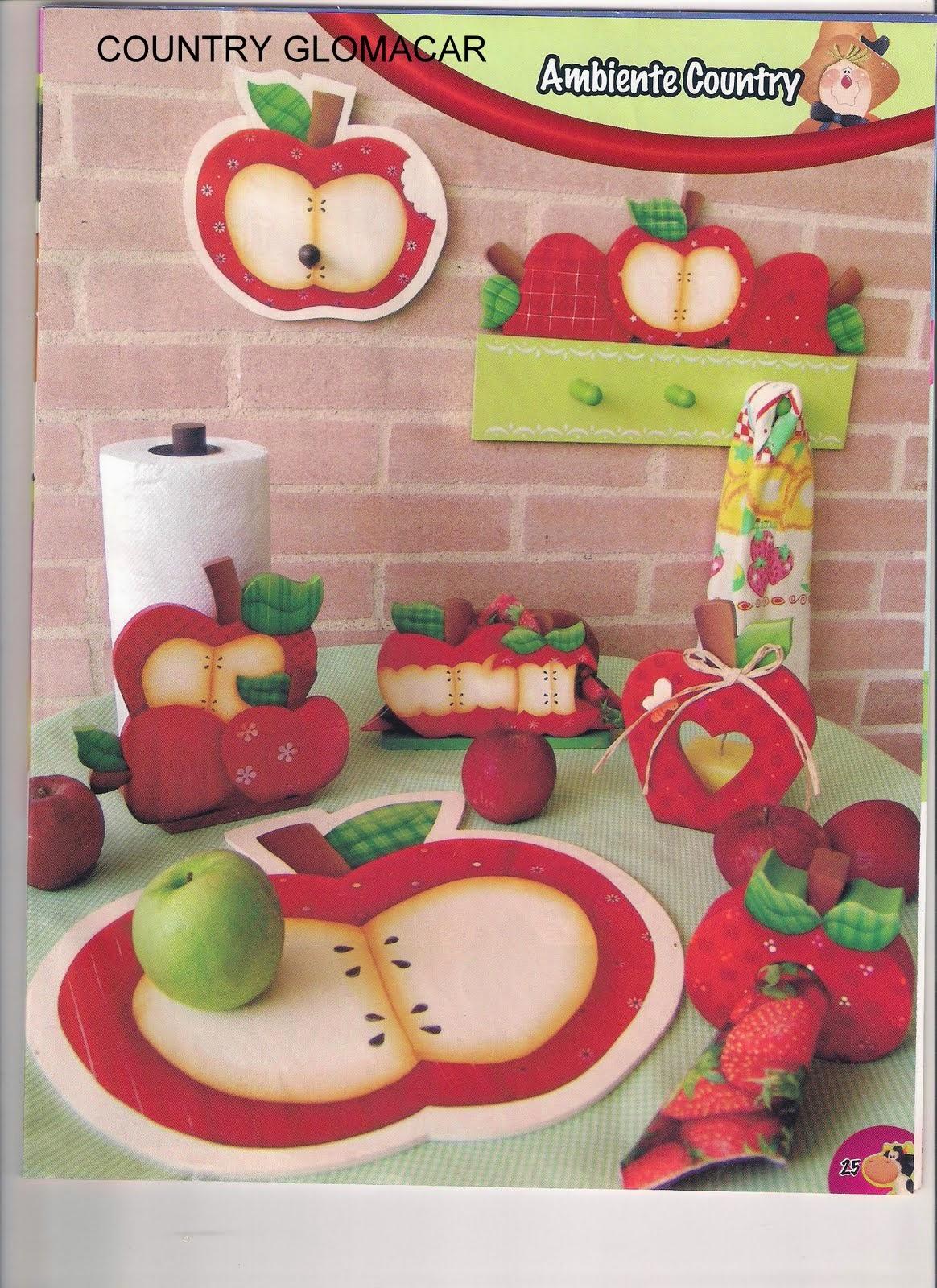 Manualidades country vaqutias para la cocina revistas de for Manualidades para la cocina