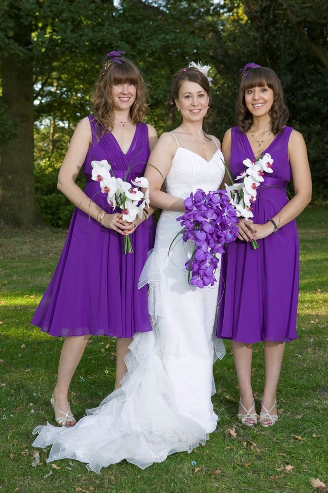 bridal bouquets with either matching or white bridesmaid bouquets