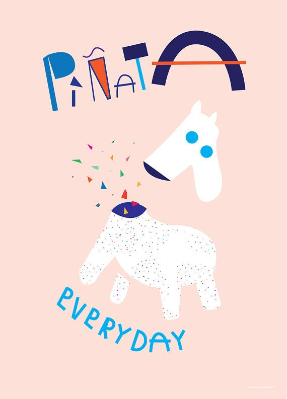 Pinata fest fejring som plakat