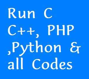 Run Your C C Php Java V B Etc Codes Online