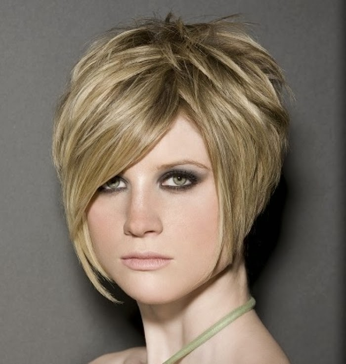 short stacked hair style for women at new year 2014