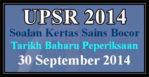 Soalan Sains UPSR Bocor