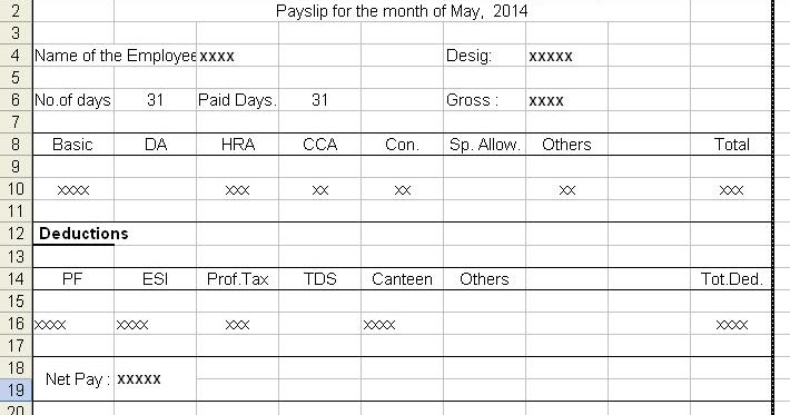 Doc1002618 Payslip Format in Excel Free Download Payslip – Employee Payslip Format