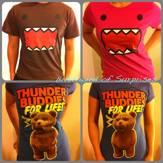 Officially Licensed Domo, Ted, Thunder buddies, Tees, T-shirts, tops