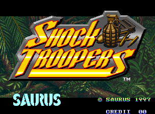 Shock Troopers title screen