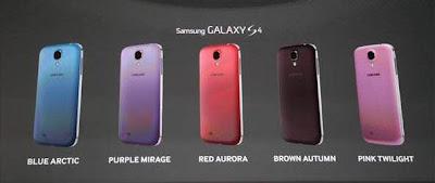 Ragam Warna Samsung Galaxy S4